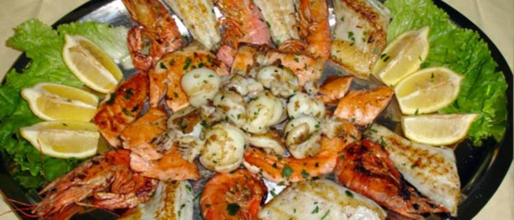 grigliata di mare menu trattoria grigna lecco