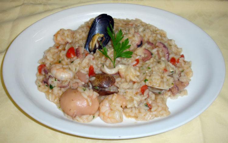 risotto frutti di mare menu trattoria grigna lecco